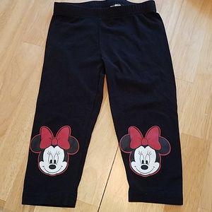 Girls Minnie Mouse Black Pants size XS(4/5)